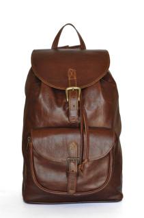 Dark Pecan Backpack - Brown Genuine Leather Backpack