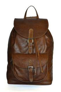 Hickory - Brown Genuine Leather Backpack