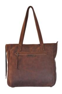 Brown Genuine Leather Tote Handbag - Double Edge Cape Town