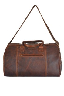 The Luggage Bag - brown leather travel bag (front)