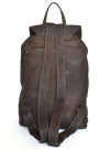 Aged Backpack - Brown Distressed Genuine Cow Hide Leather Backpack (back)