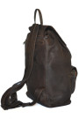 Aged Backpack - Brown Distressed Genuine Cow Hide Leather Backpack (side)