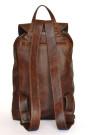 Dark Pecan Backpack - Brown Genuine Leather Backpack (back)