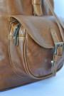 Hickory - Brown Genuine Leather Backpack (pocket)